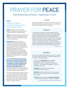 UN Day of peace Prayer - English