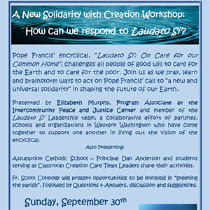 Laudato Si' Parish Workshop: Church of the Assumption