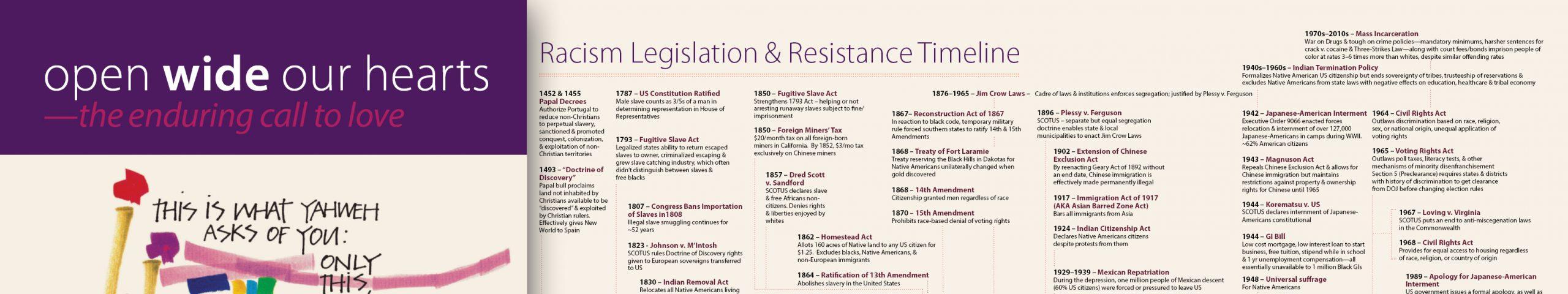Racism Legislation and Resistance Timeline