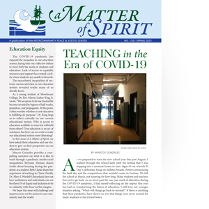 A Matter of Spirit, Spring 2021, Education Equity