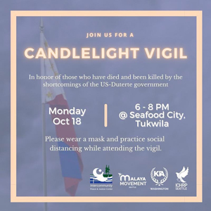 ICHRP Candlelight Vigil - Support Philippine Human Rights